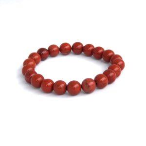 Rød jaspis krystall armbånd