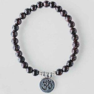 Granat krystall armbånd